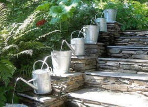 watering can recycling idea