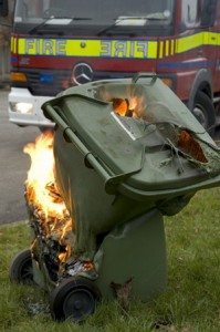 wheelie bin drug fire