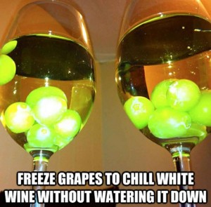 Freeze grapes and chill wine