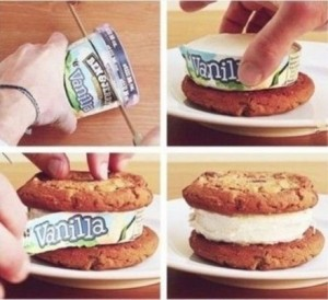 Make a perfect ice cream sandwich