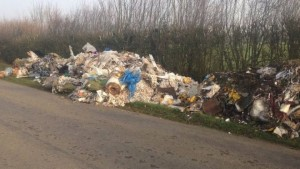 Waste dumped by farmer at roadside