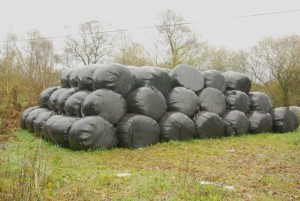 Farmers warned against storing bales of waste on their land