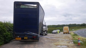 A waste firm has been fined £20,000 after an employee dumped a waste trailer in a highway lay-by