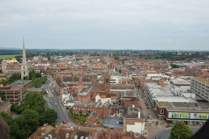 Business waste tidy up in Worcester city centre began last week