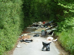 Lorry load of waste dumped on country road in north east Derbyshire