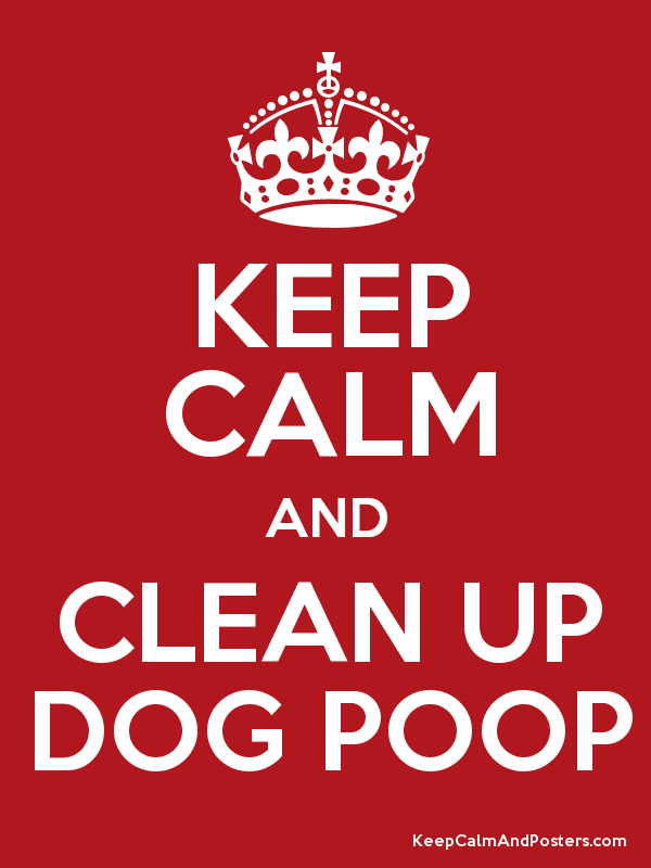 clean up dog mess poster free