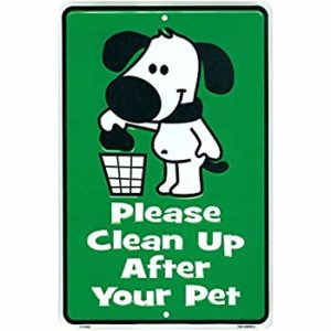 no dog poo poster - pick up