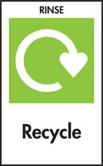 Rinse before you recycle