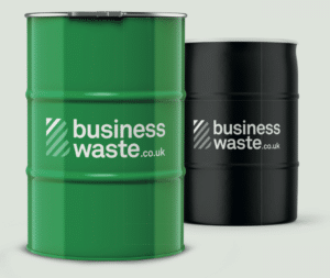 Oil waste drums for disposal