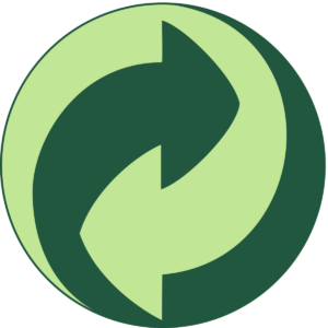 the green dot recycle logo